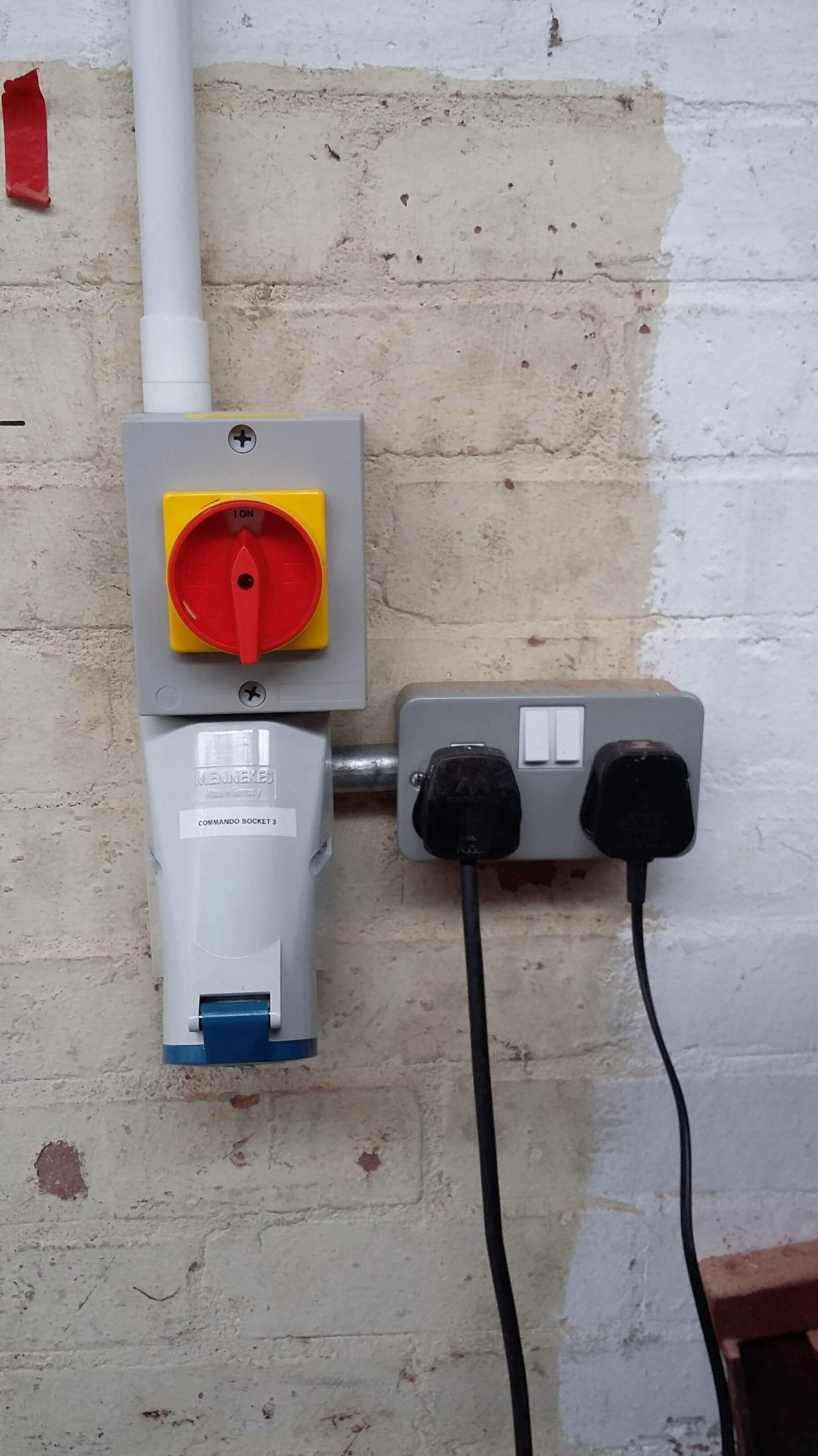 New three phase power socket