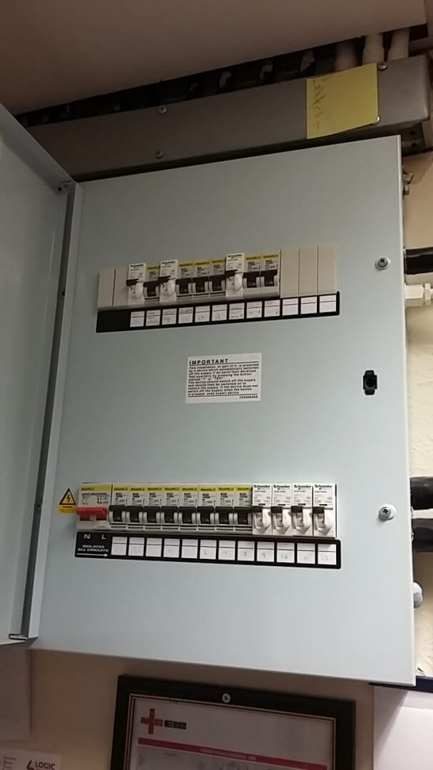 New fuse box fitted by Hawkins Electrical contractors