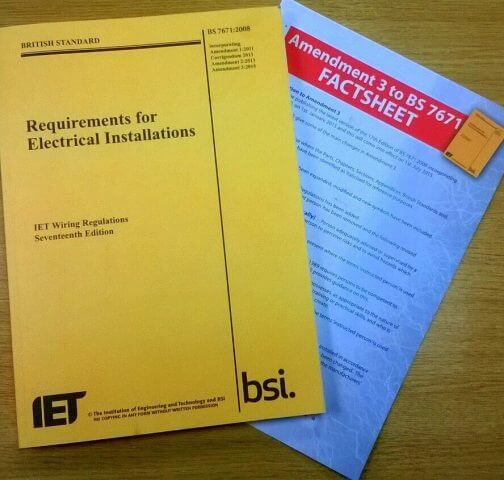 Electrical Regulation Changes