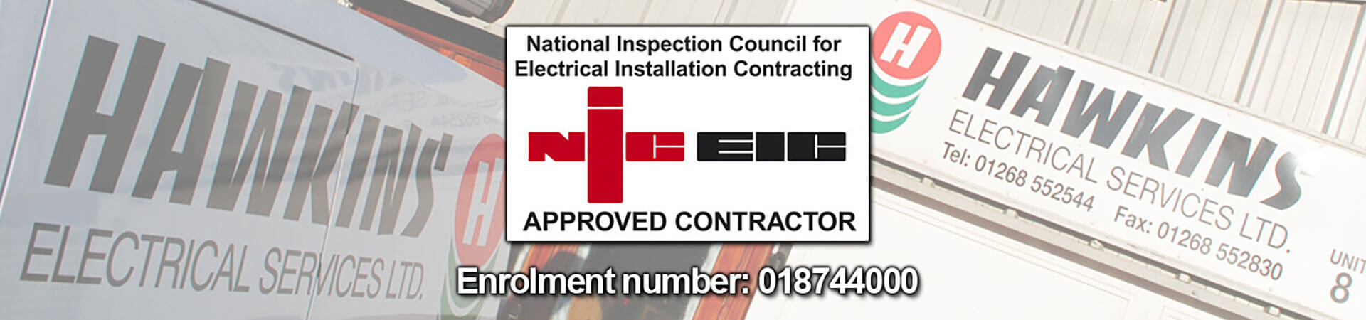 Hawkins Electical Services Are NIC EIC Approved