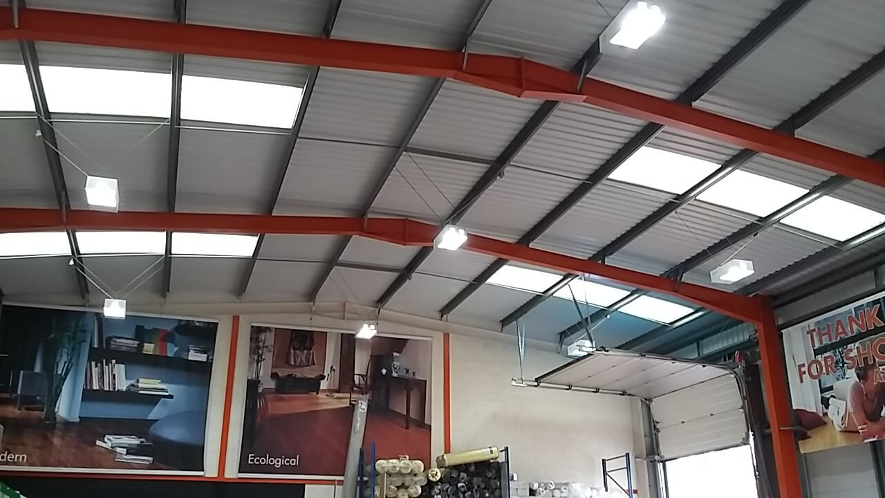 Essex factory fitted with led lighting by our electrical contractor
