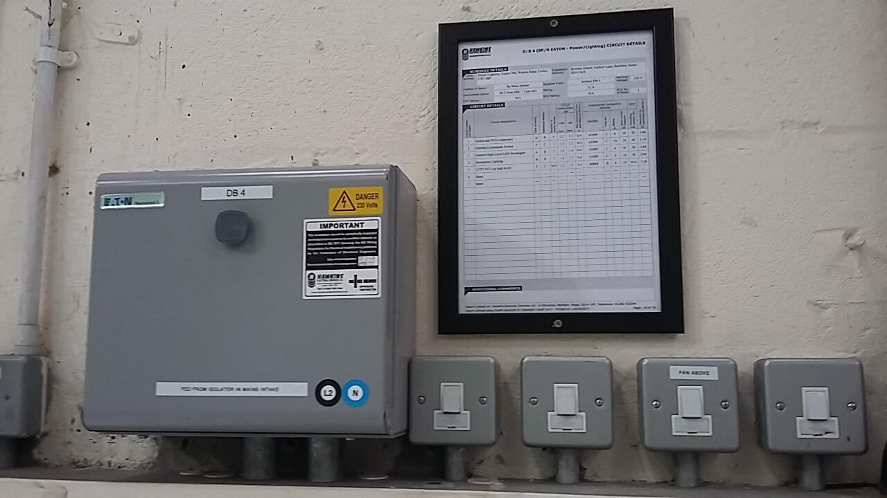 Fuse box control panel