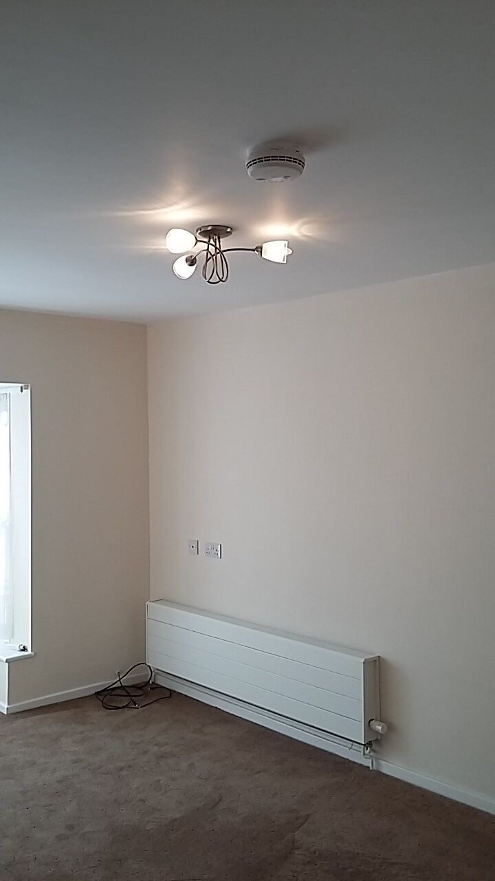 new ceiling light fitted by a Basildon electrical contractor